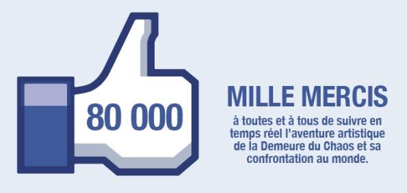 thierry Ehrmann : merci aux 80 000 amis qui suivent les aventures artistiques de la Demeure du Chaos sur Facebook