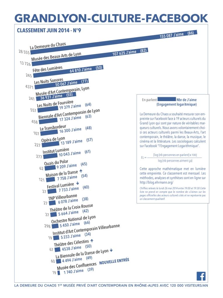 thierry Ehrmann: En avant première, le classement N°9 exclusif de juin 2014 des principaux acteurs culturels du Grand Lyon