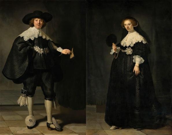 Rembrandt van Rijn Portrait of Oopjen Coppit, 1634 Portrait of Marten Soolmans, 1634