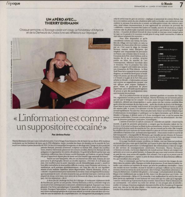 Thierry Ehrmann : « L'information est pour moi comme un suppositoire cocaïné »