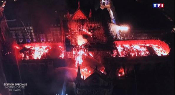 Notre Dame de Paris en feu – Image : Pompiers de Paris