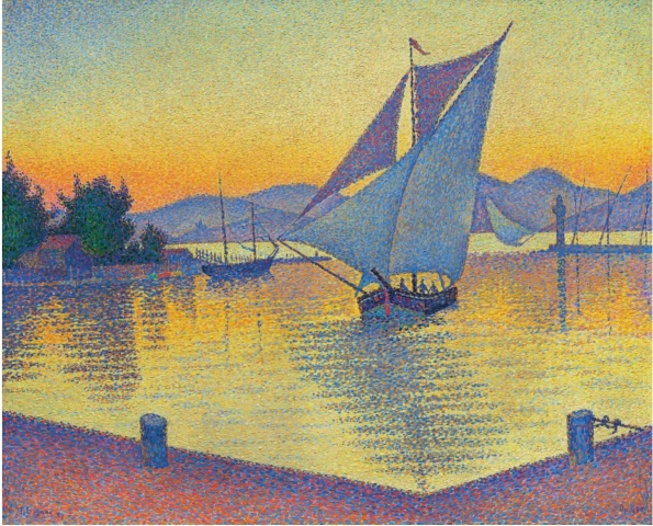 Paul Signac (1863-1935) Le Port au soleil couchant, Opus 236 (Saint-Tropez) (1892)