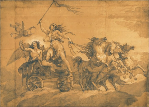 Giuseppe Bezzuloli (1784 - 1855) - Folly driving the chariot of Love L : 4,8 m ; H : 3,4 m.