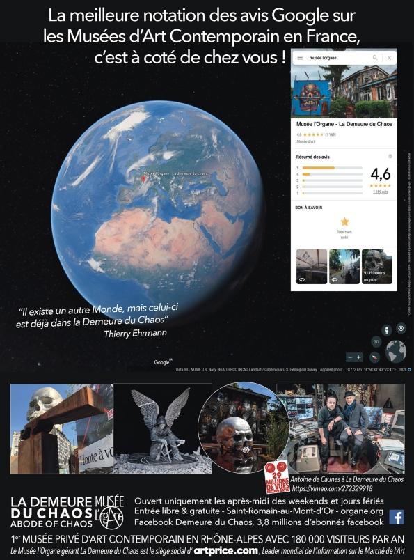 Musees Art Contemporain FRANCE classement Google