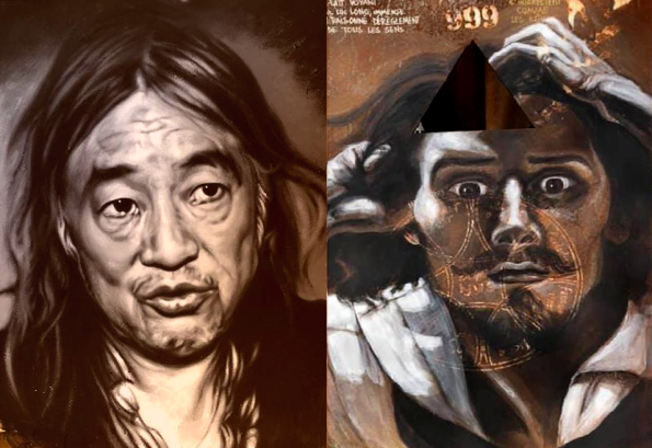 thierry Erhmann, Collective Work: La Demeure du Chaos / The Abode of Chaos Yan Pei-Ming (left) and Gustave Courbet (right)