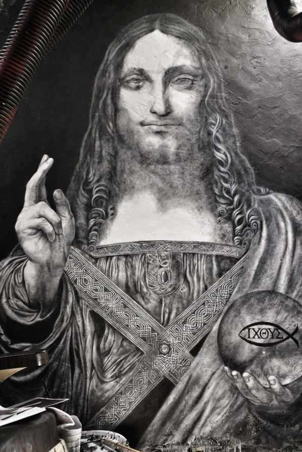 Salvator Mundi ©2019 thierry Ehrmann - courtesy of Organ Museum / Abode of Chaos